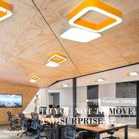 Aluminium Platz Decke Lichter Design LED Bunte Hängende Licht Ring Muster Dekorative Home Restaurant Club Empfang Beleuchtung-in Pendelleuchten aus Licht & Beleuchtung bei