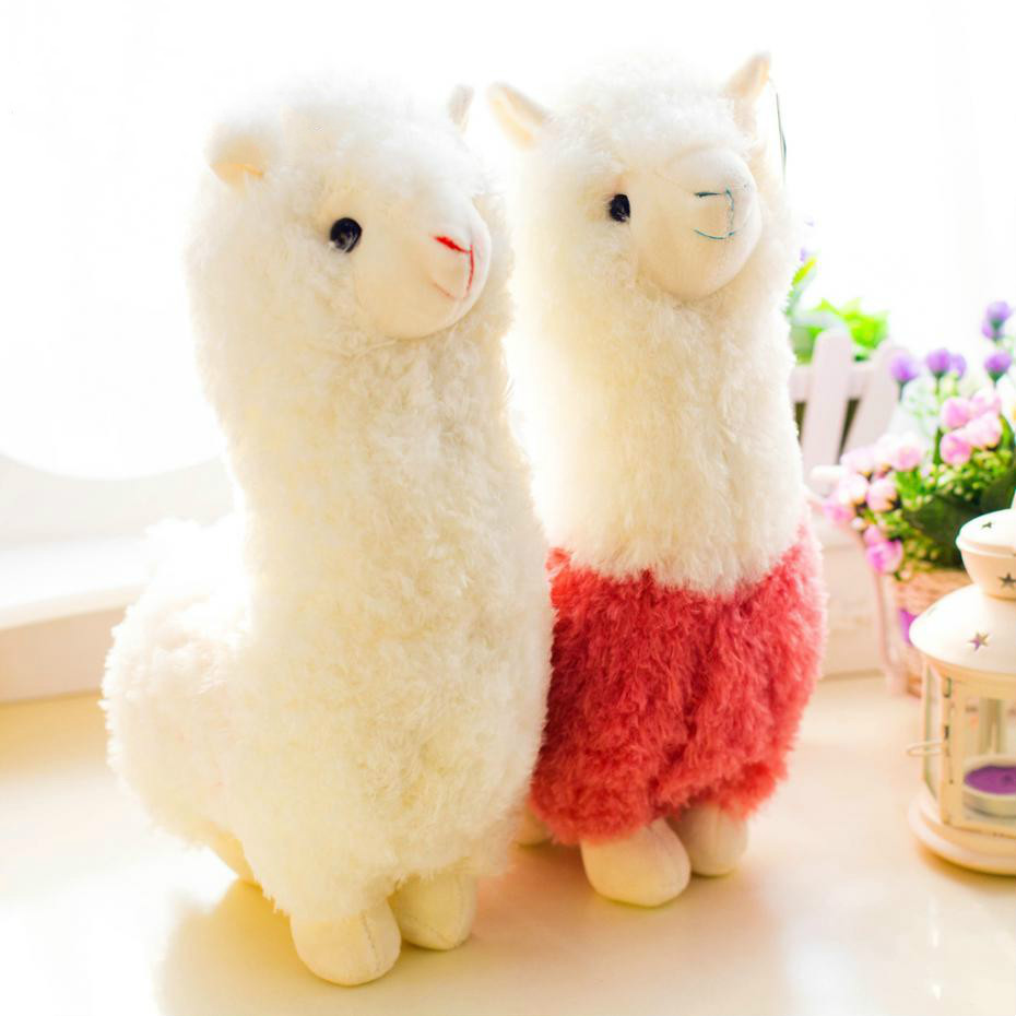 Cute 28cm Cartoon Alpaca Plush Doll Toy Fabric Sheep Soft Stuffed Animal Plush Llama Yamma Birthday Gift For Baby Kid Children