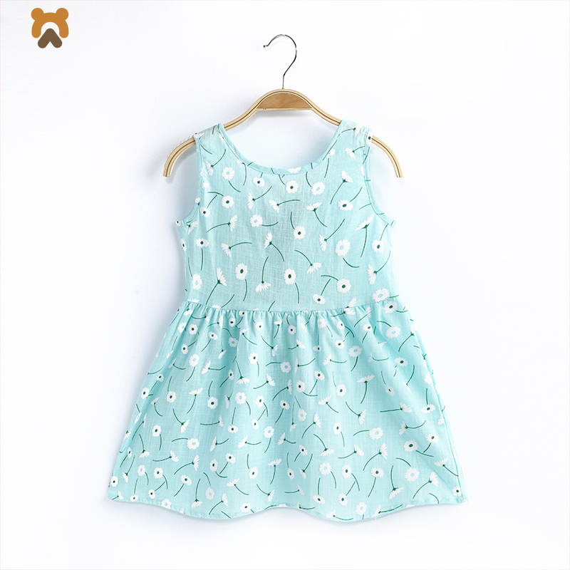 2018 Baby Girls Summer Dress Cotton Sleeveless Princess Girl Gown Dress Toddler Casual Children Kids Party Dresses For Girls baby girl summer dress children res minnie mouse sleeveless clothes kids casual cotton casual clothing princess girls dresses page 9