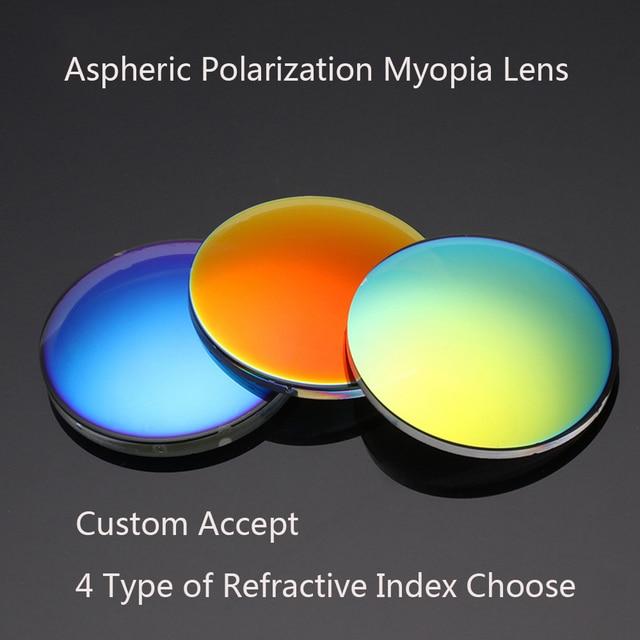 (No Astigmat) Prescription Sunglasses Customize Accept Aspherical Polarization Myopia Lens With UV400 Film Hard Film 1.67 index