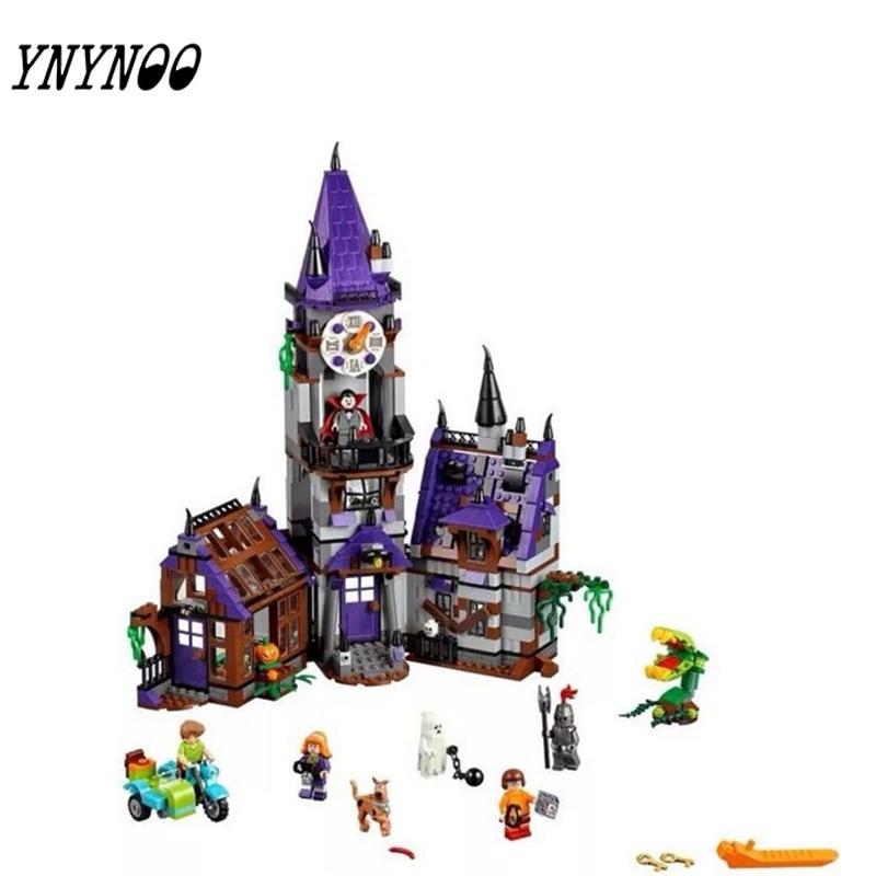 (YNYNOO) 10432 10431 Scooby Doo Mysterious Ghost House  Building Block  Toys KKKK