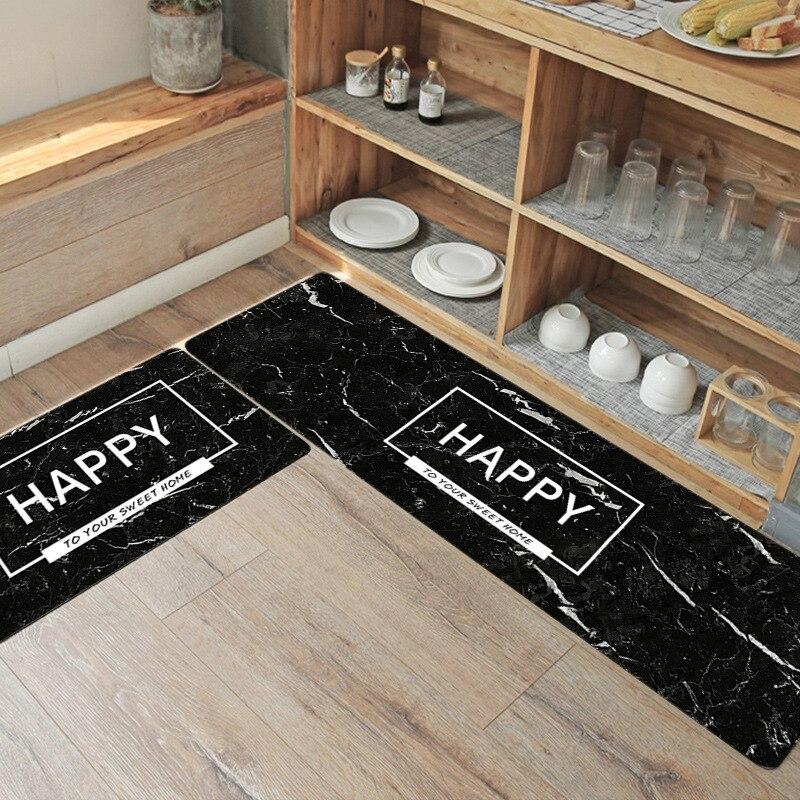 Tapis de cuisine anti-dérapant moderne tapis salon balcon salle de bain imprimé tapis paillasson couloir géométrique tapis de bain