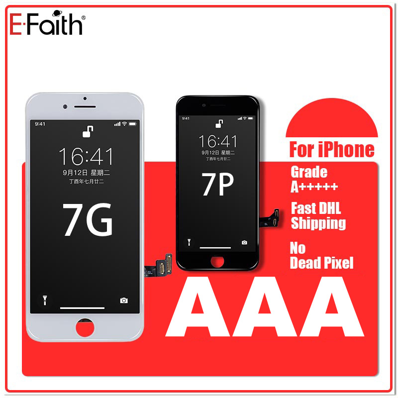E FAITH 20PCS Grade A Display LCD For iPhone 7 7G 7P LCD Replacement Touch Screen