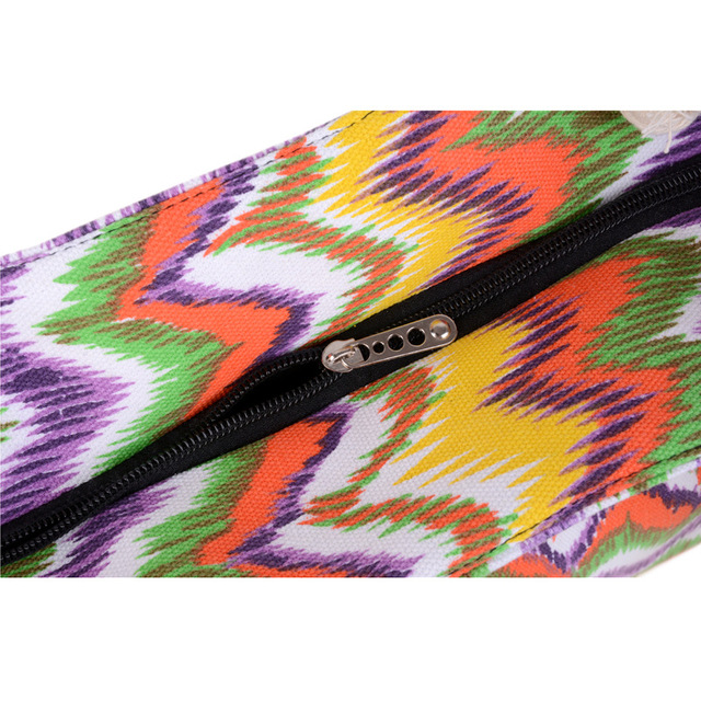 High Quality Casual Summer Beach Women Bag Hot Sale Fashion Canvas Striped flower Handbags Shoulder Bag