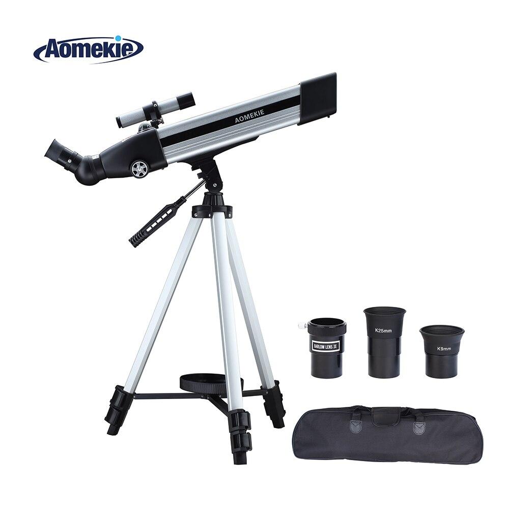 AOMEKIE DF50060 telescopio astronómico espacial con trípode alto ajustable HD paisaje Luna ver Monocular bolso portátil