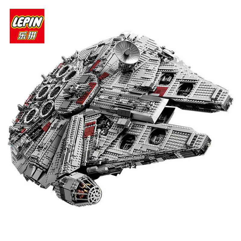LEPIN 05033 Millennium Wars Falcon Star Ultimate Collector's Bricks Blocks Educational Model Building Toys Kit compatible lego new 5265pcs star wars ultimate collector s millennium falcon model building kits blocks bricks kids toys compatible with 10179