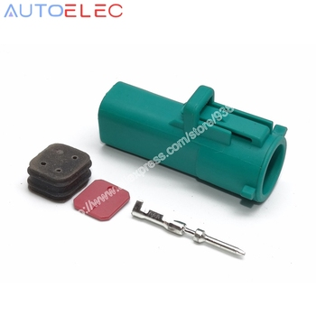 100kit RANGER 4Pin car O2 Oxygen Sensor Electrical Wire Connector Plug waterproof connectors automotive for AMP Tyco audi VW