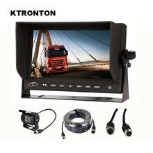 AHD 1080P SONY CCD Автомобильная камера заднего вида 18 IR светодиодный+ 1024x600 HD монитор для грузовика автобуса RV Caravan Van Trailer