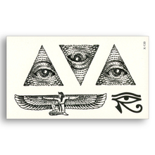 2pcs Egypt Triangle Eye Wings Totem Water Transfer Fake Tattoos Waterproof Temporary Stickers Male Female Cool Beauty Body Art