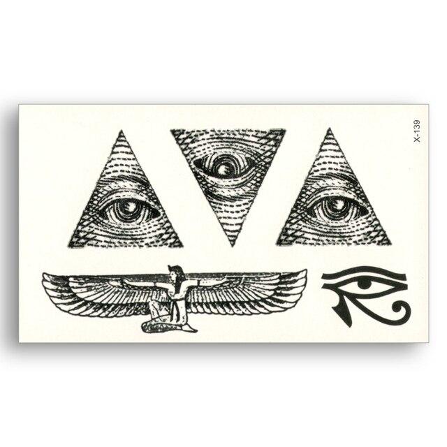 Egypte Triangle Oeil Ailes Totem Eau Transfert Faux Tatouages