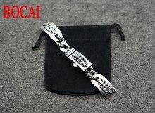 Crusader flower bracelet Jewelry Silver 925 punk retro  men and women watch chain
