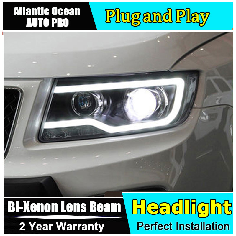 new Car Styling for Jeep Compass LED Headlight Projector For Compass Head lamps Lens Double Beam