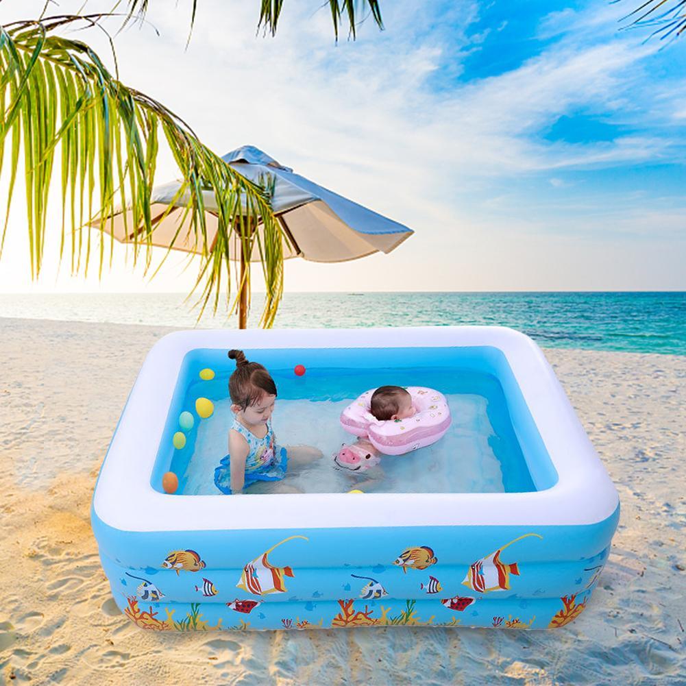 Piscine à usage domestique de haute qualité pour enfants piscine carrée gonflable de grande taille piscine gonflable en PVC pour enfants en plein air