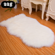 AAG Faux Fur Sheepskin Rug Carpet Deluxe Super Soft Fluffy Shaggy Home Decor  Silky for Bedroom Floor Sofa Chair Cover