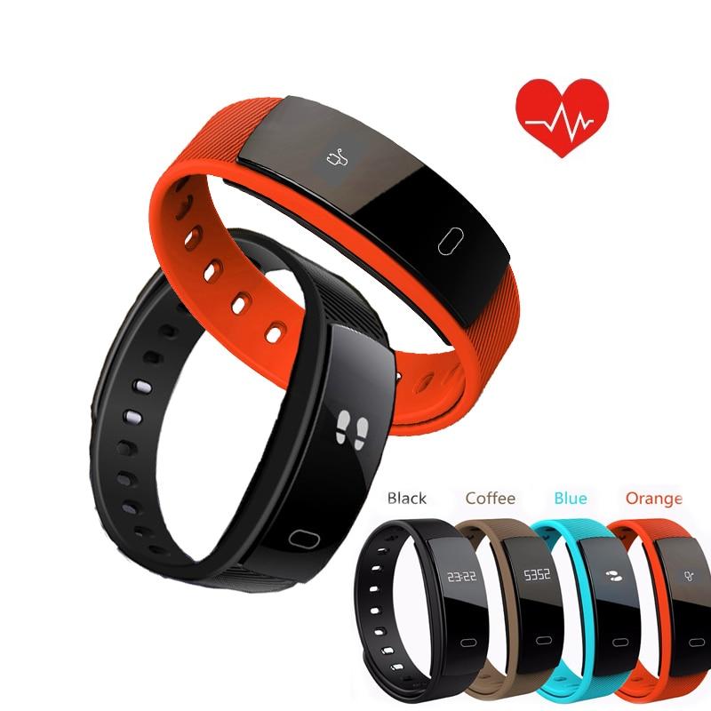 QS80 Smart Bracelet Appel Rappel Pression Artérielle Mesure Podomètre Intelligent Bracelet Fitness Tracker Moniteur de Fréquence Cardiaque