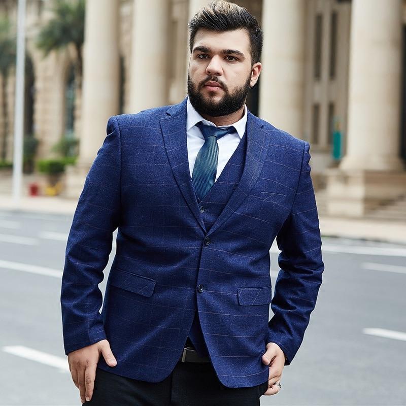 Men's Plaid Blazers Plus Size 6XL 7XL 8XL 9XL 9xl Men's Suit Blazer Formal Blazer Dress Jacket High Quality Wedding Business