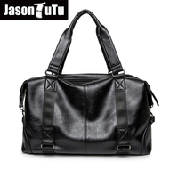 Leisure High Quality Small Business Men pu leather travel duffle bag sac de voyage Coss body Large Bag bolsa de couro masculina