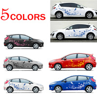 Auto Modifield Waterproof Long Lasting Decal Vinyl Stickers Natural Flower Vine Dragonfly For Whole Car Body