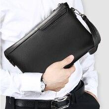 famous brand men wallet leather long men's