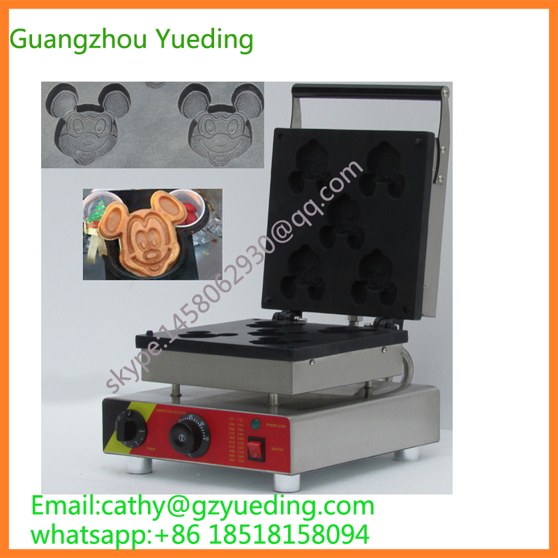 China Supplier Holesale Price Custom Cartoon Mouse Waffle Maker Machinery