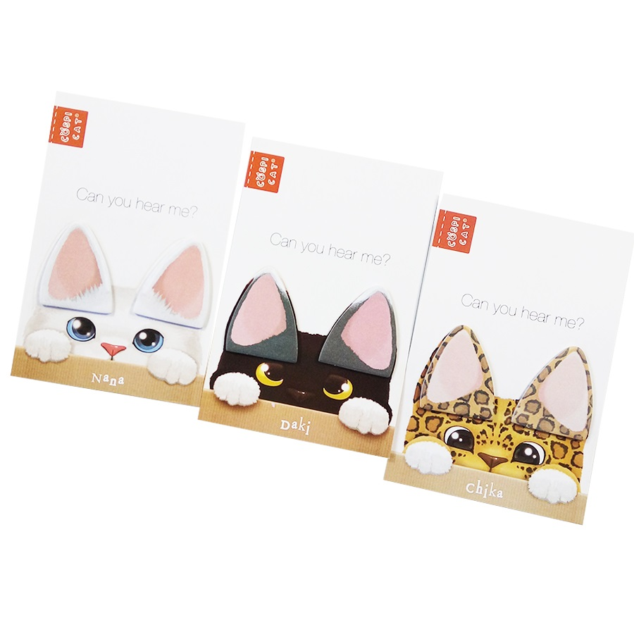 20 Pack/lot Kawaii Cat Ear Stickers Cute Scrapbooking Stationery Sticky Notes Office School Supplies Memo Pad