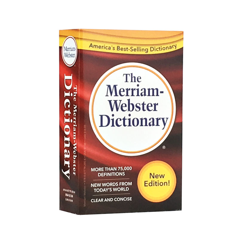 The Merriam-Webster Dictionary English Version New Hot selling Fiction book for Adult libros webster s new worldtm 575 german verbs