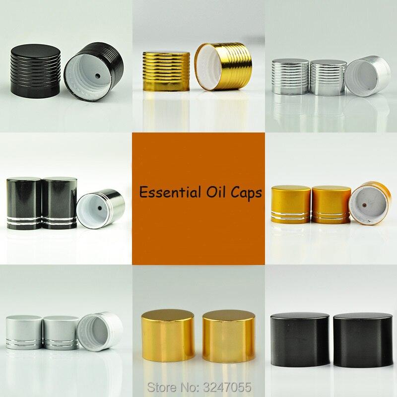цена на 50Pcs 200Pcs Empty Essential Oil Bottle Caps, Plastic Screw Lids n Drop Plug, 18mm Lids for Essential Oil Bottles