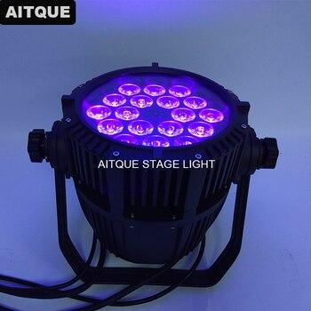 24 Лот наружное освещение для мероприятий 18x18 Вт rgbwa uv 6in1 наружное светодиодное освещение dmx 512 водонепроницаемое светодиодное освещение для ...