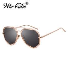 4cdeba9e055 WHO CUTIE UV400 Women Pilot Sunglasses Metal Frame 2019 Brand Design  Vintage Fashion Cool Aviation Sun Glasses Pink Shades OM774
