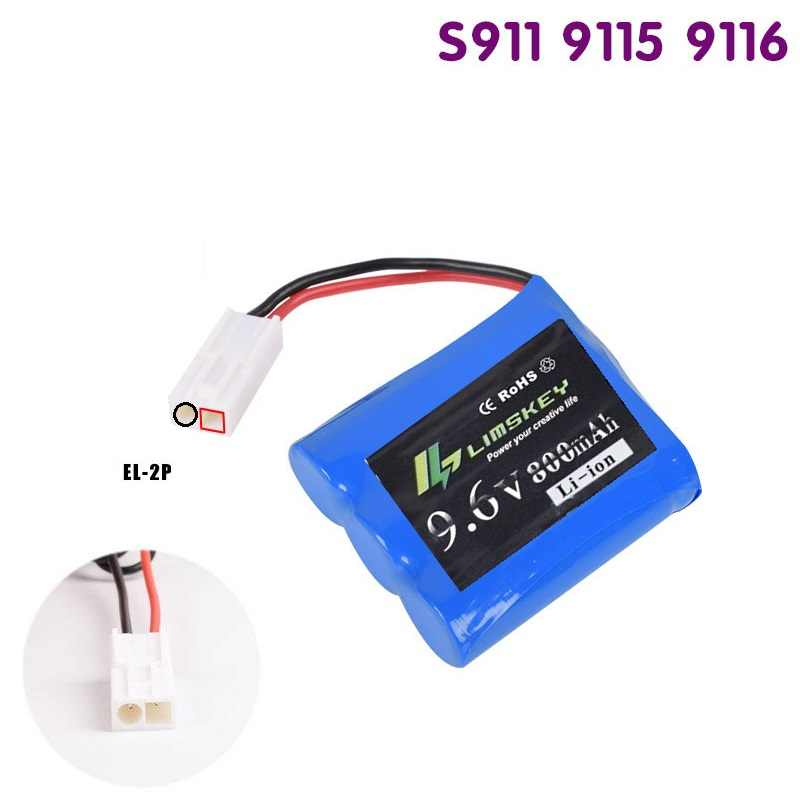 Original Baterai untuk 9115 RC Rakasa Truk Suku Isi Ulang 9.6V 800m AH Baterai Untuk 9115 RC Mobil EL-2P Plu'g