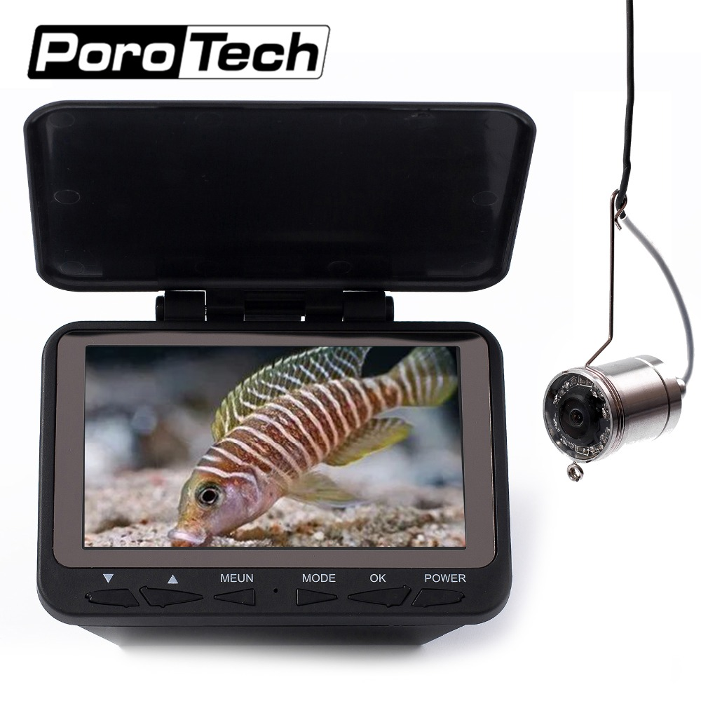 WF06 15M  Ice Winter Underwater Fishing Camera 1000TVL High Resolution 15M Cable 4.3 Inch Fishing Camera Monitor