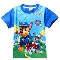 2016 Meninos Verão Dos Desenhos Animados Cães de patrulha T Shirt Tops T Crianças roupas Camisetas Meninas T Camisa Roupas de bebê menino Infantil