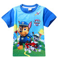 2016 Summer Boys Cartoon Dogs patrol T Shirt Tops Tee Children Clothing baby boy clothes T-Shirts Girls T Shirt Infant
