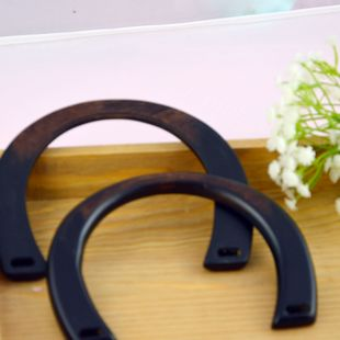 Antique Style Wooden Gradual Black Color Handbag Handles For Sewing Craft Diy