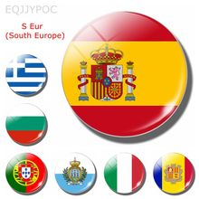 The Kingdom of Spain National Flag 30 MM Fridge Magnet Glass Cabochon Magnetic Refrigerator Stickers Note Holder Home Decoration xt xinte pci e 8pin female to 2 port dual pcie 8pin 6 2p male gpu graphics video card power cable cord 18awg wire btc miner