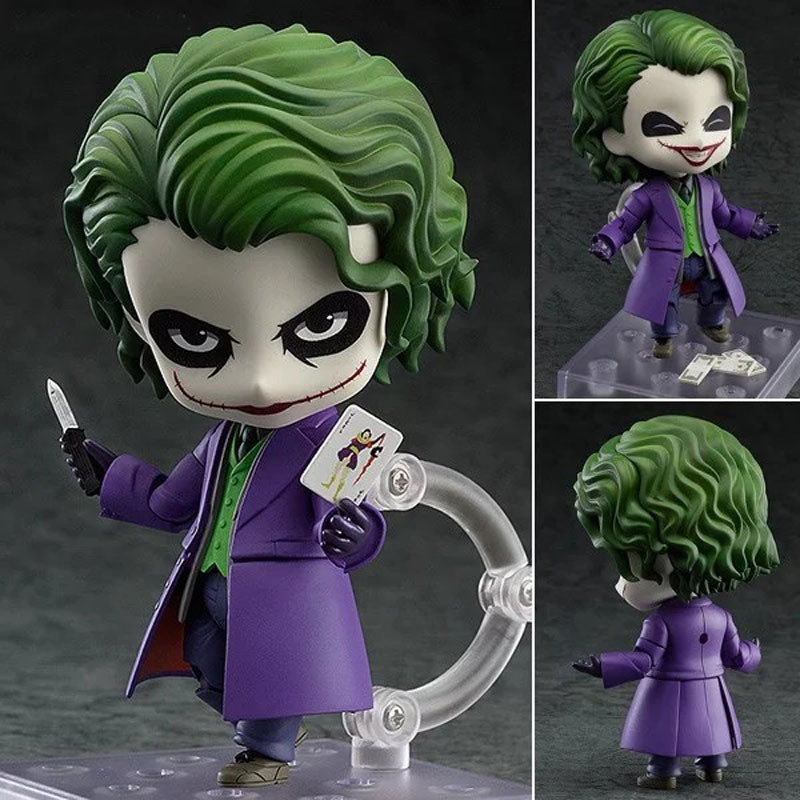 Anime Batman The Dark Night 566 The Joker Villains Edition PVC Action Figures Collectible Model Toys Doll 10cm