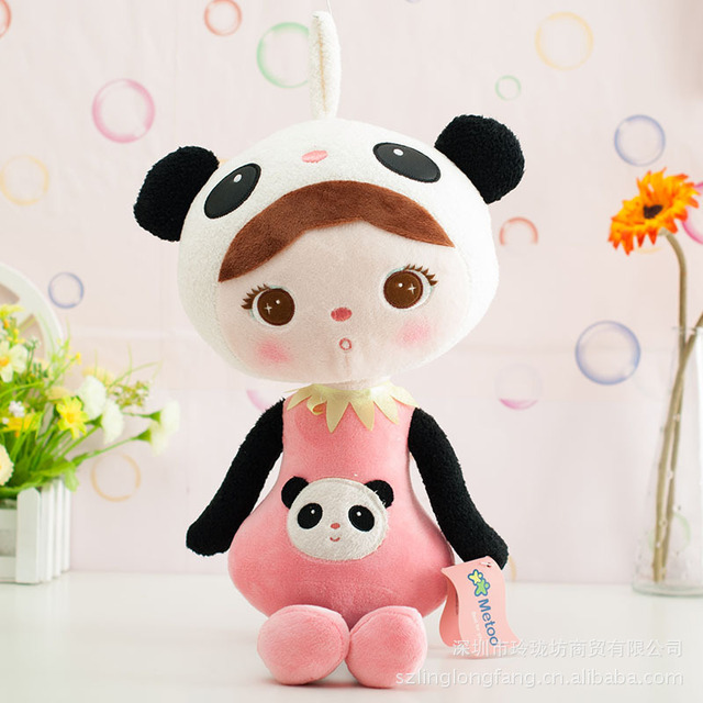 Kids Toys for Girls Birthday Christmas Plush Sweet Cute Stuffed Backpack Panda Pendant Baby Keppel Doll Metoo Doll