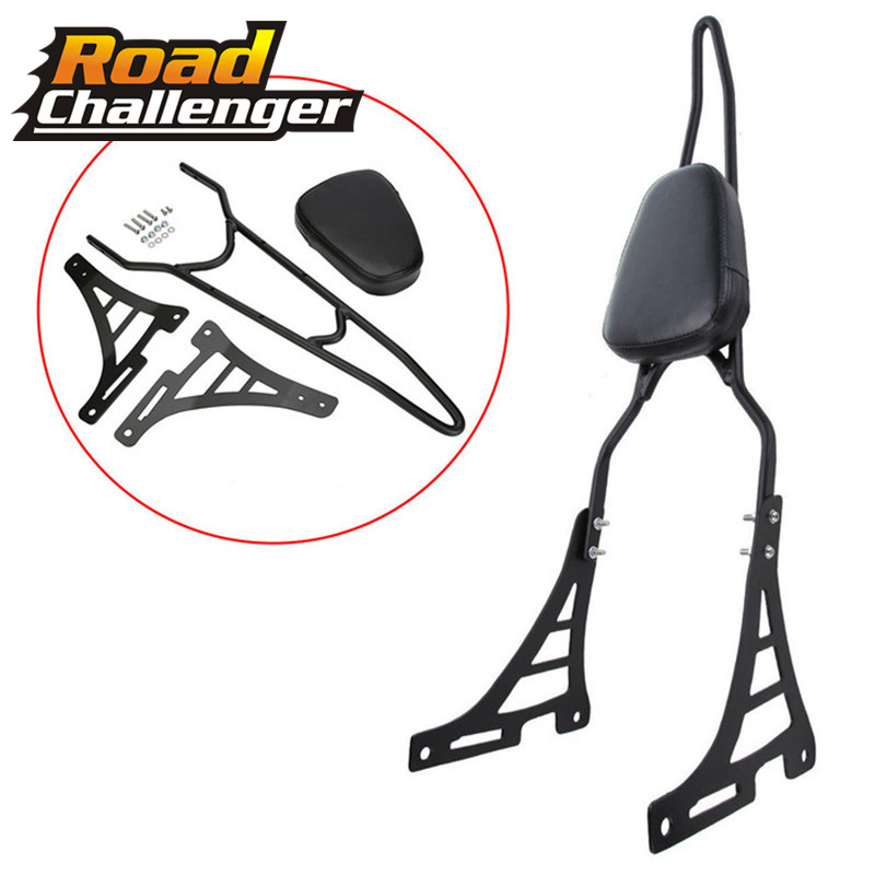 For Harley 883 1200 48 SPORTSTER XL883 XL1200 2004 2014 2015 2016 -Up Motorcycle Black Rear Backrest Sissy Bar With Cushion Pad