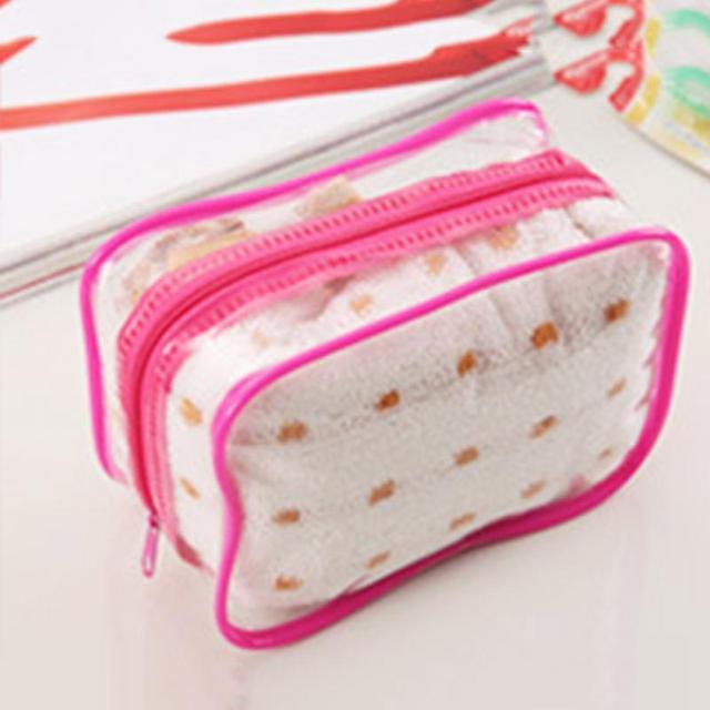 Hot Sale Transparent PVC Zipper Cosmetic Sport Bags Stripe Portable Waterproof Makeup Tool Storage Ladies Bag Swimming Bags