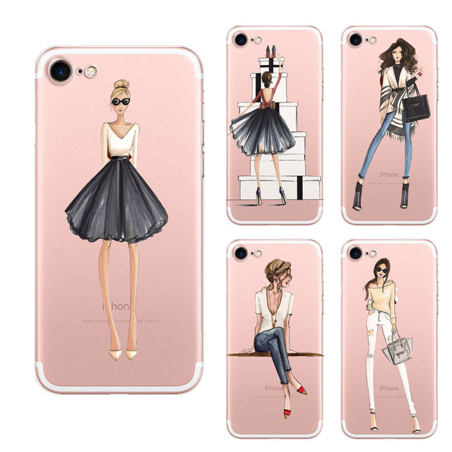 new arrival a29f5 2b118 US $4.4 |Back Cover For Iphone 6s Case Fashion Girl Clothes Simple Shining  Style Phone Case For Iphone 6 Conque Free Shipping on Aliexpress.com | ...