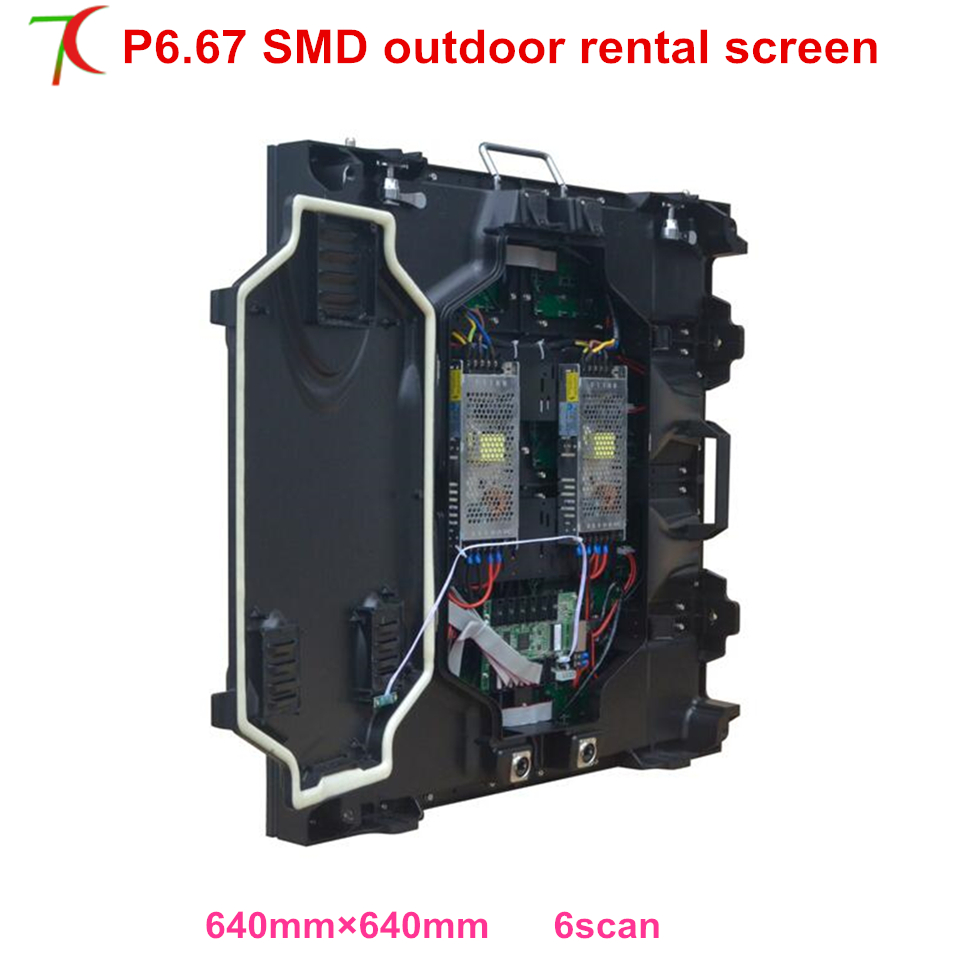 P6.67 SMD outdoor size 640*640mm rental cabinet widely use for in stages, conference, wedding, studio ,6000cd/sqm ...