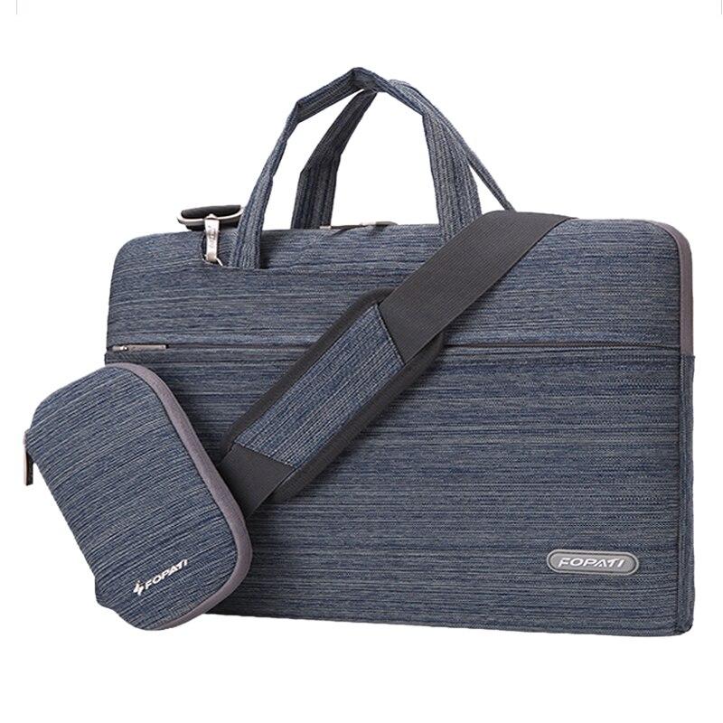 14 inch Laptop Bag Notebook Shoulder Messenger Bag Men Women Handbag Sleeve (Suit Blue)