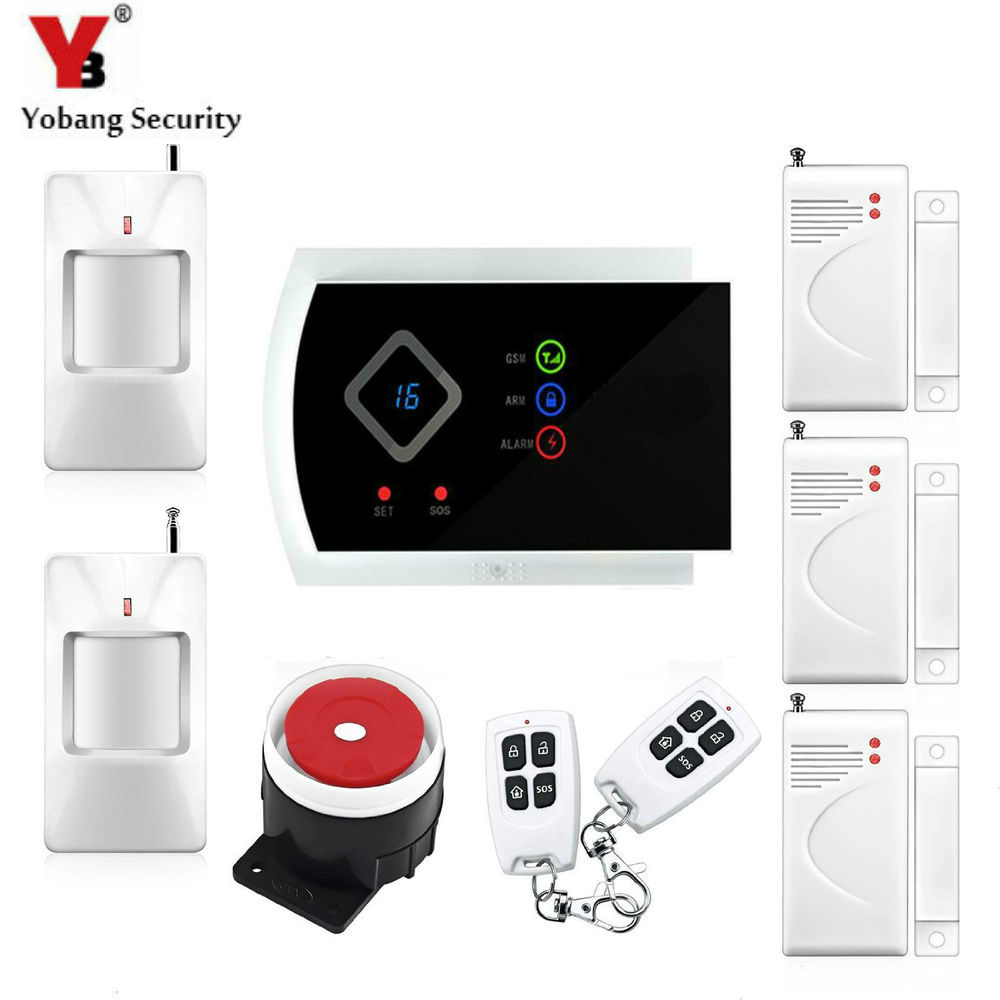 YobangSecurity Wireless Wire GSM Burglar Alarm System for Home Security Russian Spanish Italian Slovak Voice Prompt Alarm Sensor dog fence wireless containment system pet wire free fencing kd661