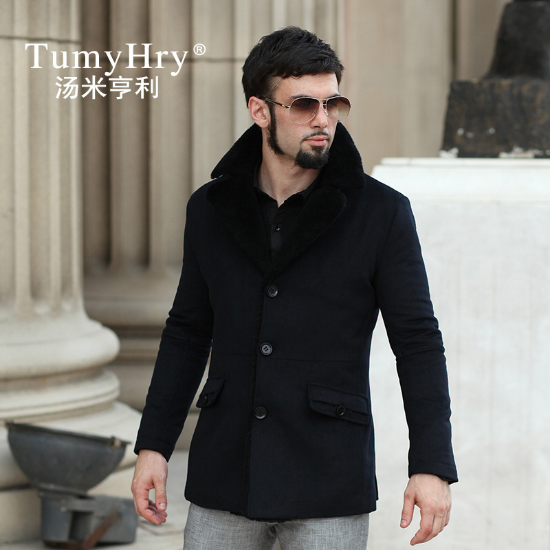 Hot Sale New Casual Men Jacket Autumn&Winter Slim Fit Wool Jacket ...