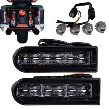 Motorcycle Accent Saddlebag Filler Insert Support LED Light Lamp For 14-17 Harley FLTRUSE CVO Road Glide Ultra & FLHR Road King