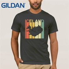 b3d73329a23 GILDAN Iceland Special Souvenir With Vintage Map T-Shirt Mother s Day Ms. T-