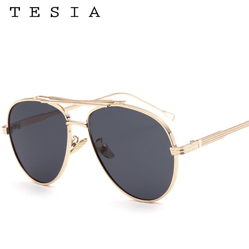 TESIA Pilot Solglasögon Män Brand Designer Reflekterande Mirrored - Kläder tillbehör - Foto 3