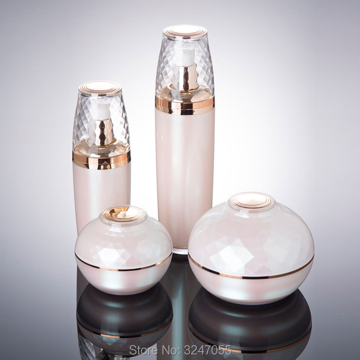 10pcs lot 30G 50G High Grade Acrylic Cosmetic Cream Jar Mask Cream Refillable Jar 30ML 50ML