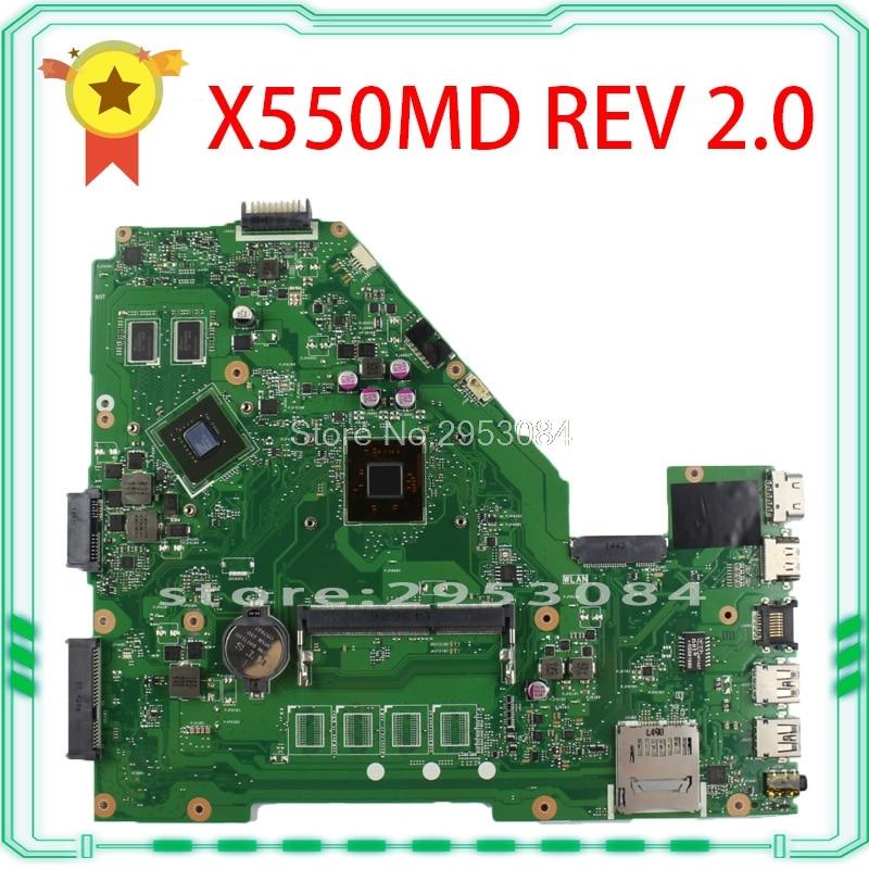 For asus 69NB06P0-M82300 69N0RBM1DA00 X550MD 2830 cpu Motherboard REV 2.0 100% fully tested S-4 dhl ems sbc advantech pca 6148 rev a101 1 bios rev 2 00 am5x86 p75 s 133mhz cpu 8mb c3 d9