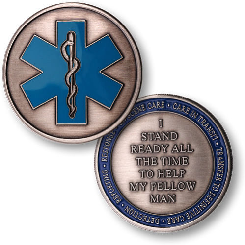 Emergency Medical Services Ems Challenge Coin Free
